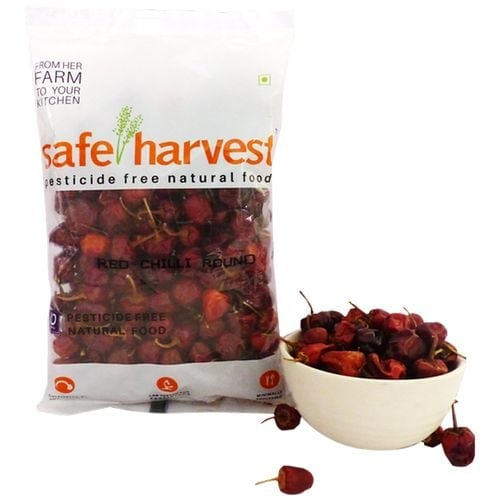 Safe Harvest Red Chilli Round Pesticide Free 200 Gm