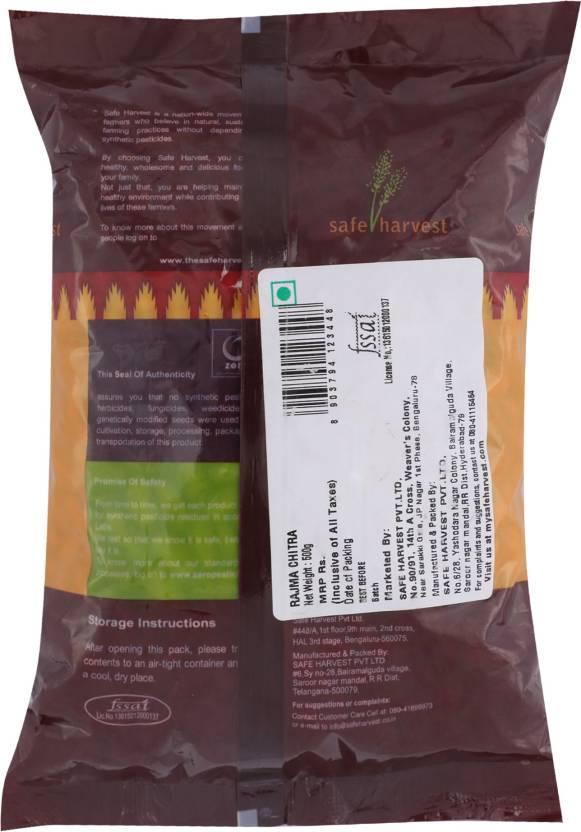 Safe Harvest Whole Rajma Chithra 500 Gm