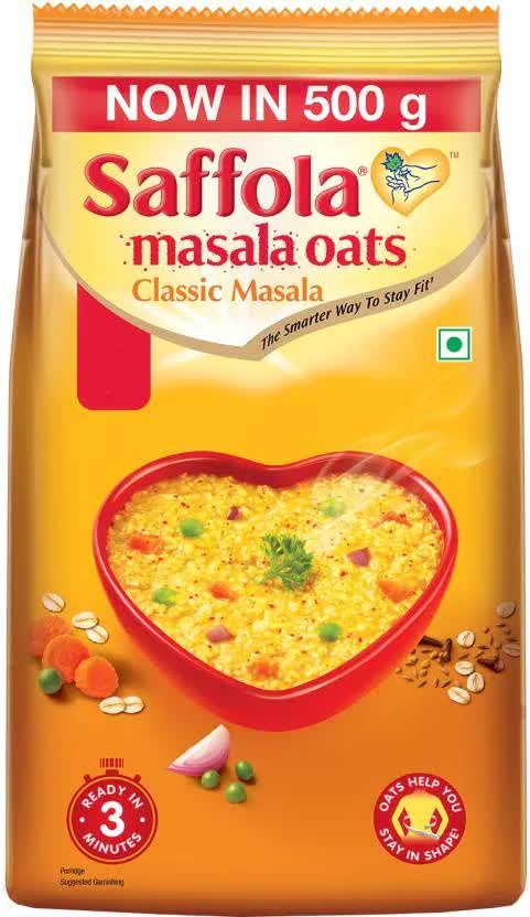 Saffola Classic Masala Oats (Pouch) 500 Gm