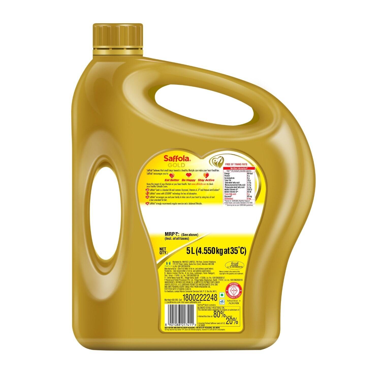 Saffola Gold Pro Healthy Lifestyle Edible Oil 5 Ltr