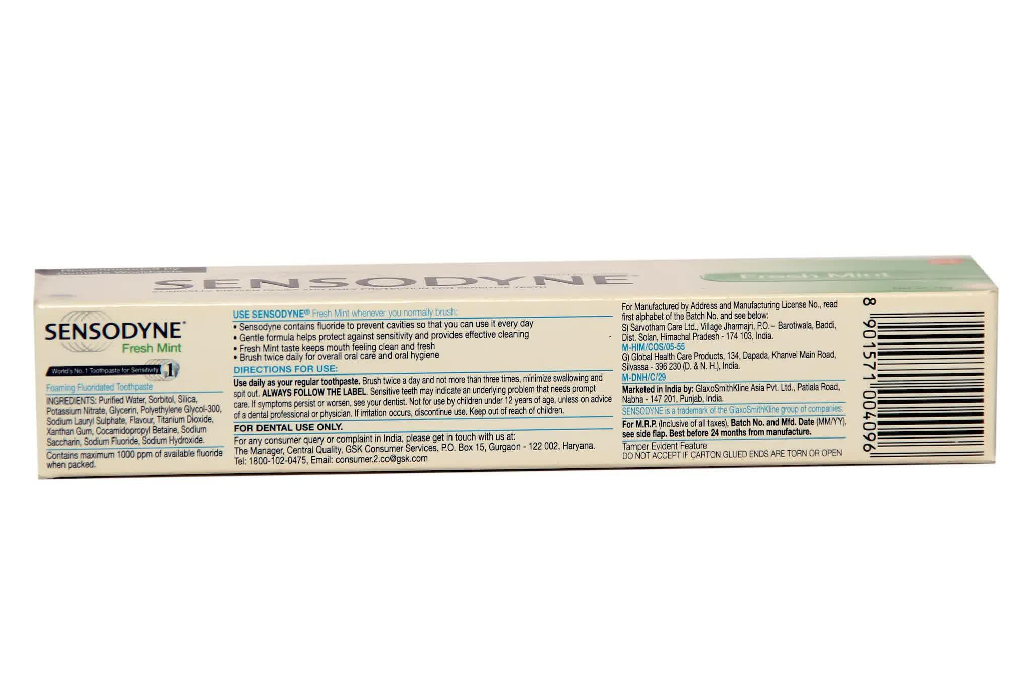 Sensodyne Fresh Mint Toothpaste 75 Gm