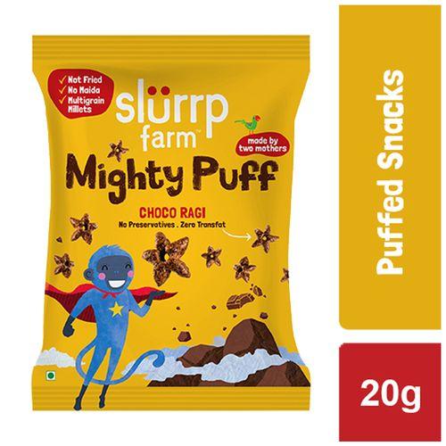 Slurrp Farm Mighty Puff Choco Ragi (Pouch) 20 Gm