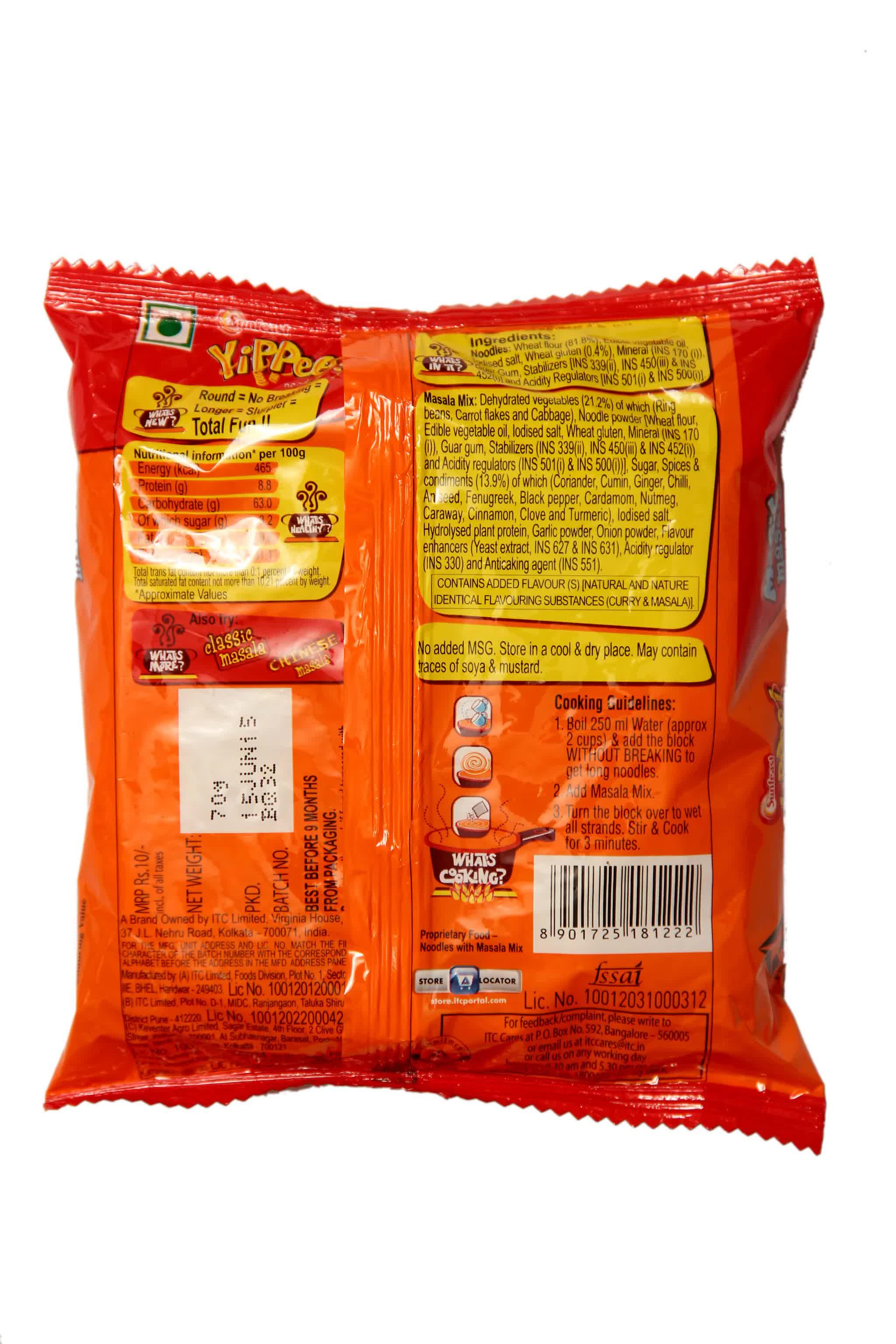 Sunfeast Yippee Magic Masala Noodles 70 Gm