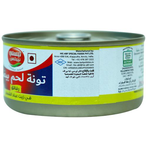 Tasty Nibbles White Meat Tuna Flakes In Sunflower Oil (Can) 185 Gm