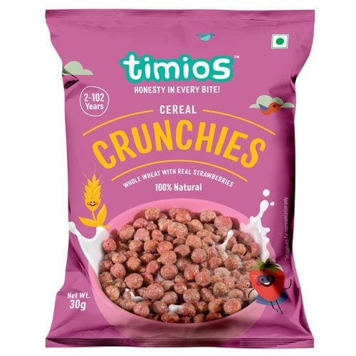 Timios 100% Natural & Healthy Crunchies Breakfast Cereals 30 Gm