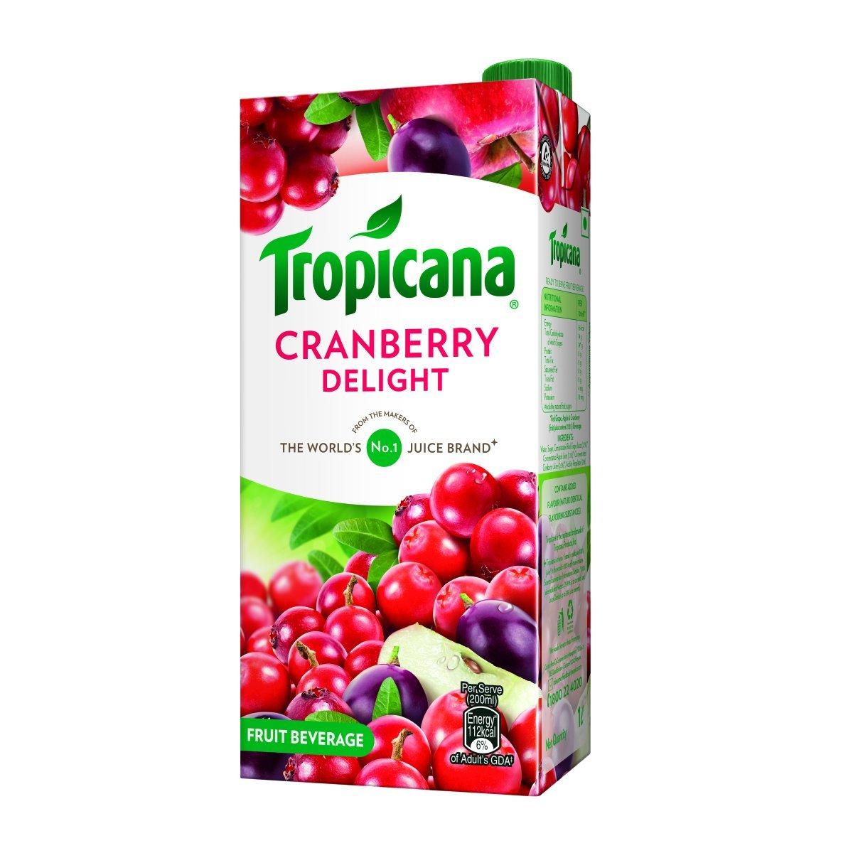Tropicana Cranberry Delight Fruit Juice 1 Ltr