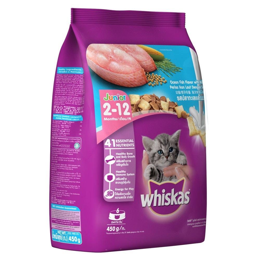 Whiskas Ocean Fish Flavor Junior Cat Food 450 Gm