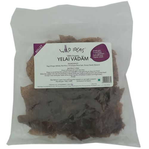 Wild Ideas Organic Yellai Vadaams Ragi Finger Millet 100 Gm