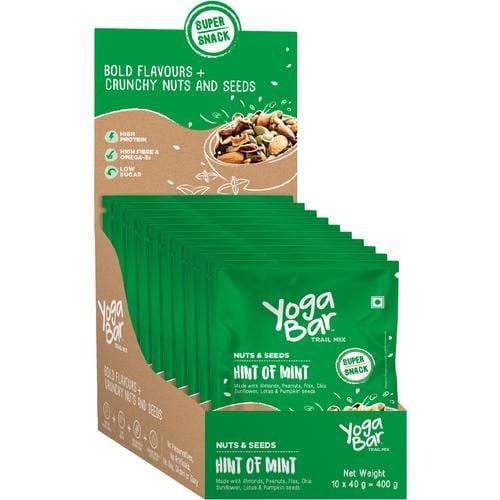 Yoga Bar Hint Of Mint Nuts & Seeds Trail Mix (10 X 40 Gm Each)