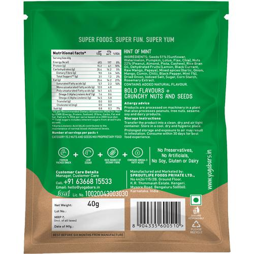 Yoga Bar Hint Of Mint Nuts & Seeds Trail Mix 40 Gm