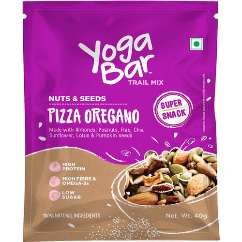 Yoga Bar Pizza Oregano Nuts & Seeds Trail Mix (10 X 40 Gm Each) 400 Gm