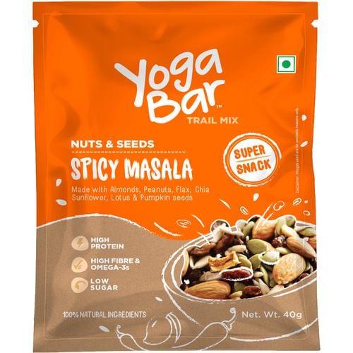 Yoga Bar Spicy Masala Nuts & Seeds Trail Mix (10 X 40 Gm Each) 400 Gm