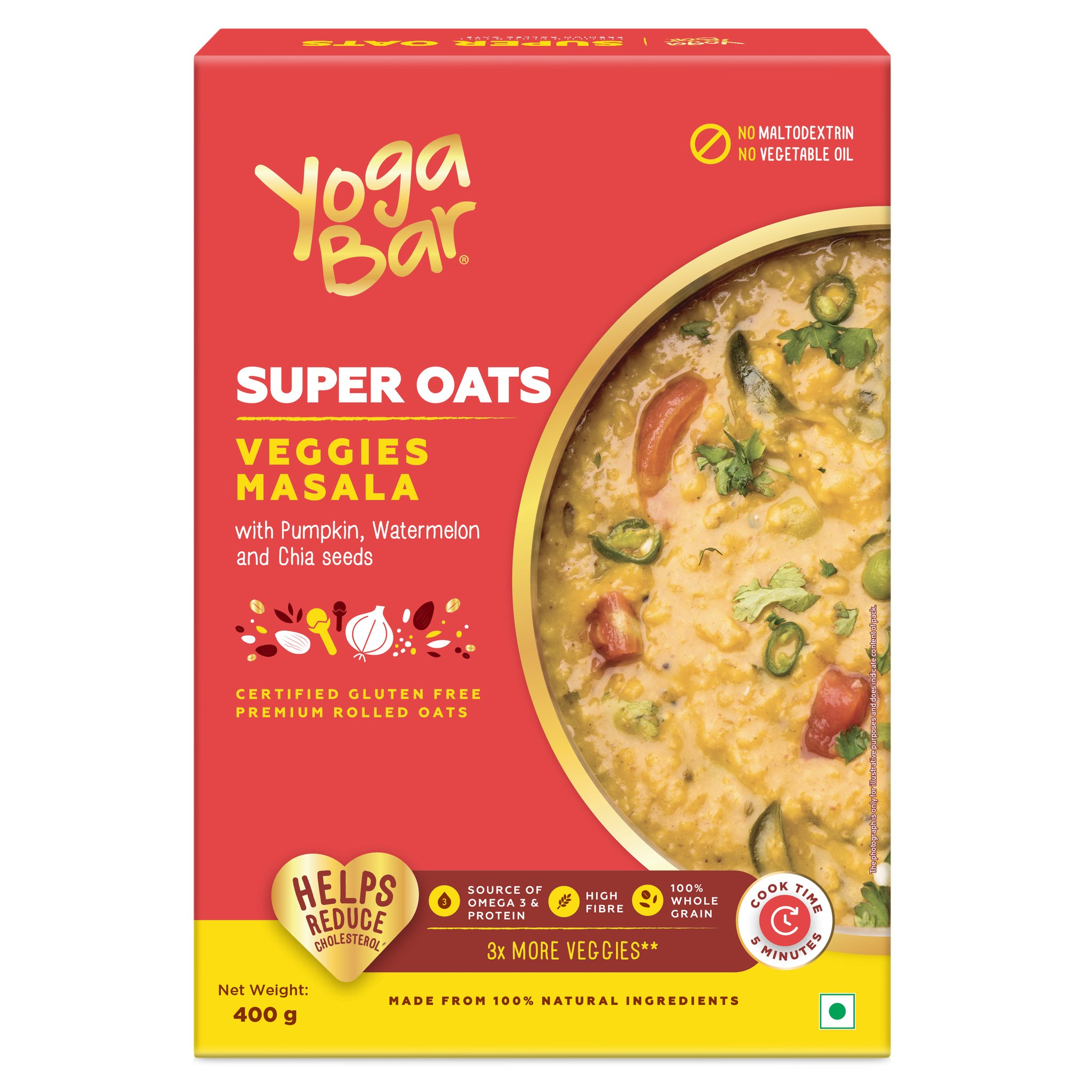 Yoga Bar Super Oats Veggies Masala