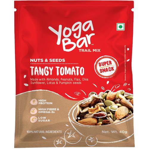 Yoga Bar Tangy Tomato Nuts & Seeds Trail Mix (10 X 40 Gm Each)