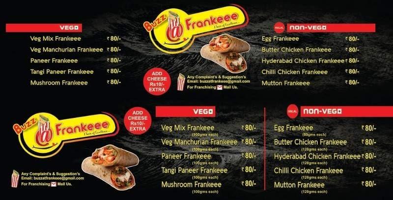 Buzz At Frankie, Uppal, Hyderabad - Food Menu Card - Justdial