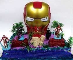 Superb Buy 14 Piece Avengers Iron Man Themed Birthday Cake Topper Set Funny Birthday Cards Online Unhofree Goldxyz