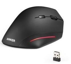 Anker Ergonomic Vertical Wireless Mouse Black [A7809012