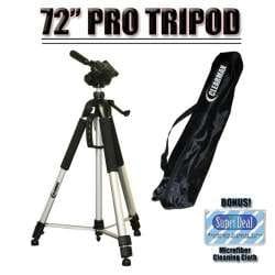 SR65 Deluxe 57 Camera Tripod with Carrying Case For The Sony DCR-SR42 SX40 SR300 SR200 SX60 Camcorders SR82 SR46 SR220 SR62 SX41 SR85 SR47 SR45 SR67 SR87
