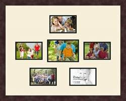 Art to Frames Double-Multimat-415-824//89-FRBW26061 Collage Frame Photo Mat Double Mat with 16-3.5x5 Openings and Espresso Frame