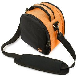 Compatible with The Wolder Micam Xport 4FUN DURAGADGET Water-Resistant Black /& Grey Cross-Body Carry Bag