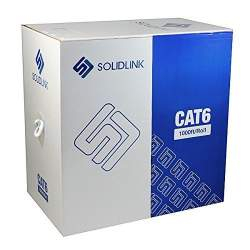 CAT6 1000FT 23 AWG 550 MHZ Cable UTP Wire Solid Ethernet Black Bulk RJ45 LAN BOX