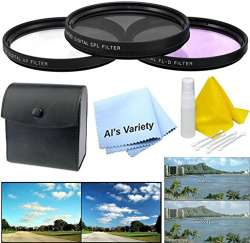 52mm Made by Optics Nw Direct Microfiber Cleaning Cloth. 3 Piece Lens Filter Kit Multi-Threaded Nikon D750 High Grade Multi-Coated