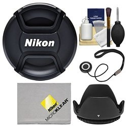 + Lens Cap Holder Nwv Direct Microfiber Cleaning Cloth for Nikon D90 Lens Cap Side Pinch 67mm