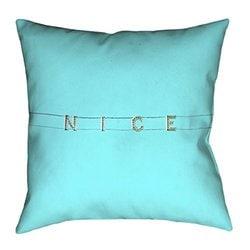 ArtVerse Katelyn Smith 20 x 20 Spun Polyester Florida Outline Pillow