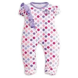 doll NEW in package American Girl Bitty Baby Colorful Dots Sleeper for 15 in