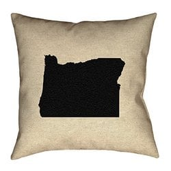 ArtVerse Katelyn Smith 26 x 26 Faux Suede Double Sided Print with Concealed Zipper /& Insert Minnesota Outline Pillow