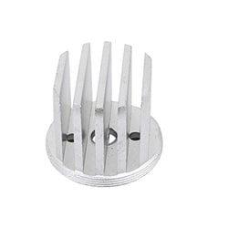 uxcell 10Pcs 14x14.2x4mm Aluminium Heats Dissipate Cooling Fin Cooler Silver Tone