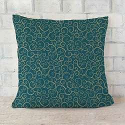 ArtVerse Katelyn Smith 20 x 20 Faux Suede Double Sided Print with Concealed Zipper /& Insert Illinois Watercolor Pillow