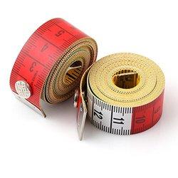 1.5M 60 Soft Plastic Ruler Tailor Cloth Body Measure Measuring Flat Tape WHITE