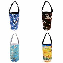 4x Insulated Neoprene Water bottle Holder Bag Pouch Cover For 30oz Tumbler