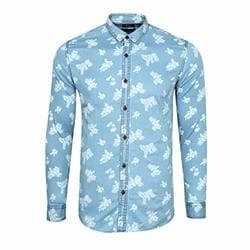 Zimaes-Men Muslim Style Casual Ice Cream Oversize Button Down Shirt