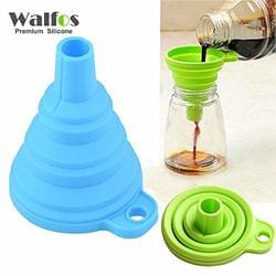 pink Mini Funnel TOOGOO Mini Silicone Gel Foldable Collapsible Style Funnel Hopper Kitchen Tool R