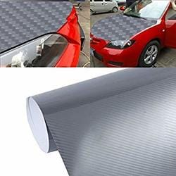 Buy 5d High Gloss Carbon Fiber Car Vinyl Wrap Sticker Decal Film Sheet Air Release Size 152cm X 50cm Silver Features Price Reviews Online In India Justdial