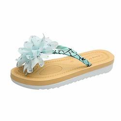 Voberry Womens Flip Flops Sandals Fashion Flat Heel Flower Beach Slippers