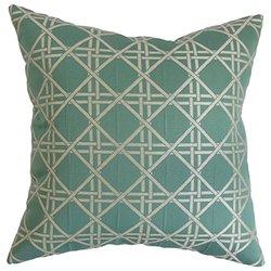 The Pillow Collection Florin Solid Bedding Sham Aqua Standard//20 x 26,