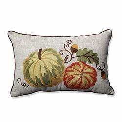 Pillow Perfect 574851 Harvest Squash Burlap Throw Pillow 16.5