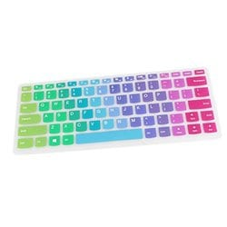 Black With Clear Saco Chiclet Keyboard Skin for Lenovo Essential G400S-59383670 14-inch Laptop