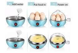 Buy Diswa Mini Electronic Egg-Boiler 7 Egg Cooker (Multicolour ...