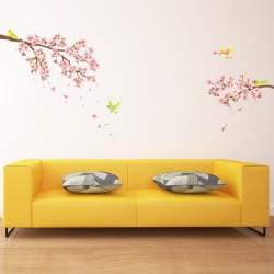 Decowall Dw 1303 Cherry Blossoms Wall