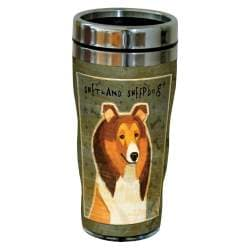 Lanquist Artful Traveler Double-Walled Cool Cup with Straw 16-Ounce Tree-Free Greetings cc33104 Scenic Sequoia Park Bears in Stream Bears by Paul A
