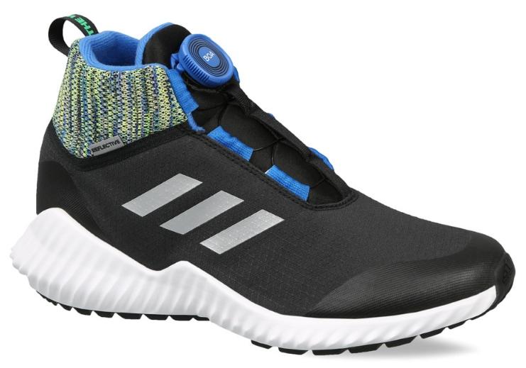 Adidas Kids-Unisex Training Fortatrail Boa Beat The Winter Shoes Cblack Refsil Blue Size 4