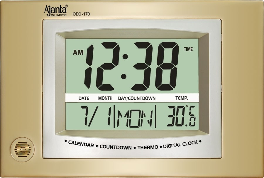 Buy Ajanta Digital Lcd Wall Clock Odc 170 Features Price Reviews Online In India Justdial