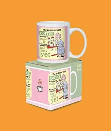 Buy Aunty Acid Coffee Mug The Problem With Coffee Is Trying To Make It When You Havent Had Any Yet Cool Morning Coffee Mug Mens Gift Auntie Acid Features Price Reviews Online