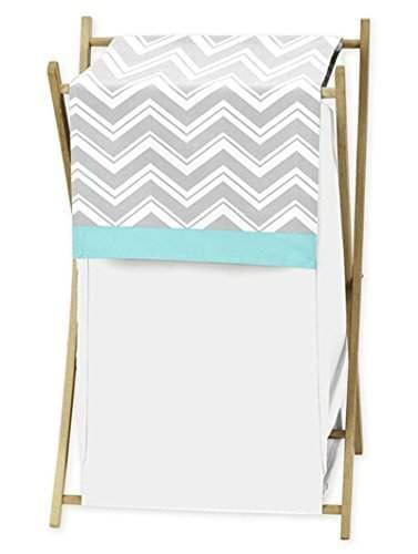 Buy Baby Kids Clothes Laundry Hamper For Turquoise And Gray Chevron Zig Zag Bedding By Sweet Jojo Designs Features Price Reviews Online In India Justdial
