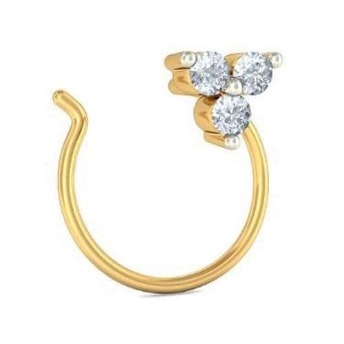 Buy Bluestone 14k 585 Yellow Gold And Diamond Nose Pin Features
