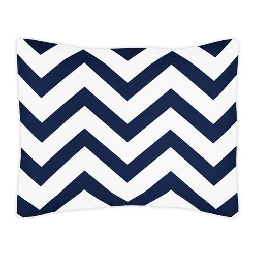 Buy Sweet Jojo Designs Standard Pillow Sham For Navy And White Chevron Zig Zag Bedding Collection Features Price Reviews Online In India Justdial